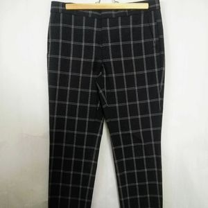 Banana Republic BLK/Wht Plaid Trousers